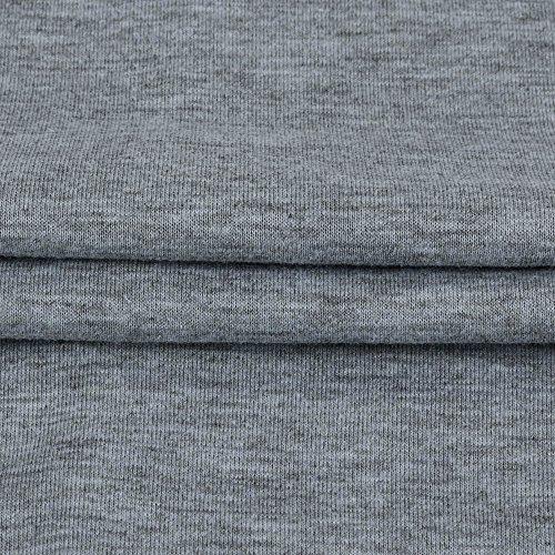Sunenjoy Femmes Dame Chemisier Lâche Chauve-souris à manches longues Dentelle Gilet T-shirt Couture col oblique Pull Hauts Élégant Occasionnel Tenue Vêtements pour Filles Travail M-2XL Gris