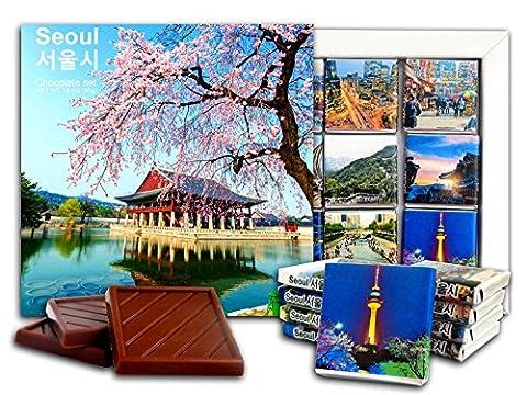 DA CHOCOLATE Cadeau de Chocolat SEOUL 13x13cm 1 boîte (journée)