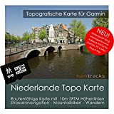 Niederlande Garmin Karte TOPO 4GB microSD. Topografische GPS Freizeitkarte für Fahrrad Wandern Touren Trekking Geocaching & Outdoor. Navigationsgeräte, PC & MAC