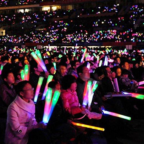 Mumustar 1PC LED Flashing Foam Sticks Light Up Glow Baton Strobe For Concert Party Props Supplies Festivals Raves Birthdays