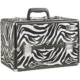 Beautify - Grosser Professioneller Zebra-Muster Aluminium Beauty Kosmetik & Make Up Koffer