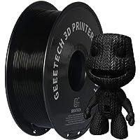 PLA Filament 1.75mm New Noir, GEEETECH Imprimante 3D Filament PLA 1kg Spool