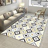 CHAI Wohnzimmer Dekoration Teppich Matten Nordic Einfachen Stil Geometrische Muster 3D Druck Rechteckigen Teppich Schlafzimmer Rutschfeste Teppich Kinderteppich Teppich Teppiche (Größe : 200x300cm)