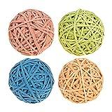 Set von 4Gummibänder Colorful Gummi Bands–Pack, Gummi Band Bälle für Heimwerker, Arts & Crafts, Dokument Organisation, Pink, Blau, Tan, lime grün Farben