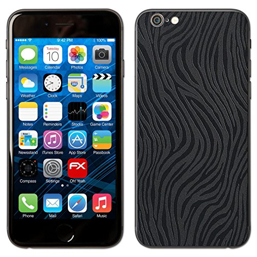 "Skin Apple iPhone 6 ""FX-Leather-Black"" Sticker Autocollant FX-Wave-Black"