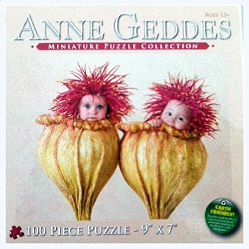 Anne Geddes Miniature Puzzle Collection 100 Pc 7 X 9 Puzzle - 2 Babies in Flower Blossoms by Anne - Flower Anne Geddes