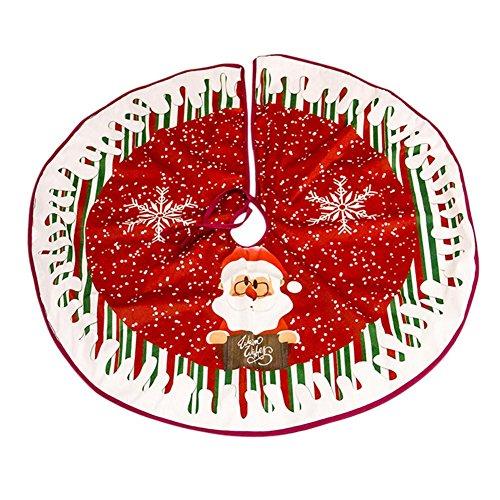 PoeticHouse SHOH Weihnachtsbaum Rock, Clever Creations Sackleinen und Plaid Weihnachtsbaum Rock Sackleinen mit traditionellen Plaid Grenze | Traditionelles festliches Feiertagsdesign