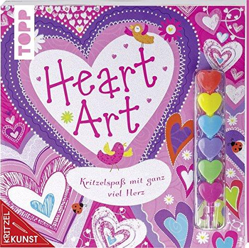 KritzelKunst: Heart Art: Kritzelspaß mit ganz viel Herz. Mit 6-Farben-Herzstift