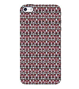 PrintDhaba Pattern D-5162 Back Case Cover for APPLE IPHONE 4 (Multi-Coloured)