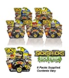 6 Packs of Sick Bricks 2 Figures Set (Contents/Characters Vary)