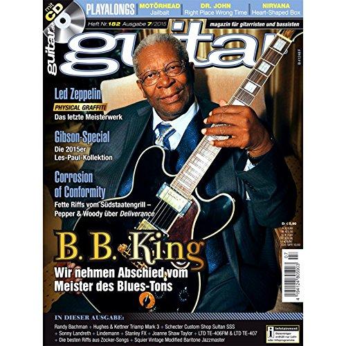 Guitar Ausgabe 07 2015 - B B King - mit CD - Interviews - Workshops - Playalong Songs - Test und Technik