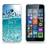 DIKAS Nokia Microsoft Lumia 640 Hülle, Transparente Soft Crystal Clear Ultra Handyhülle Gel Flex Handycover Stoßfest Durchsichtige Silikonhülle Schale Rückseite für Nokia Microsoft Lumia 640- Pic: 05