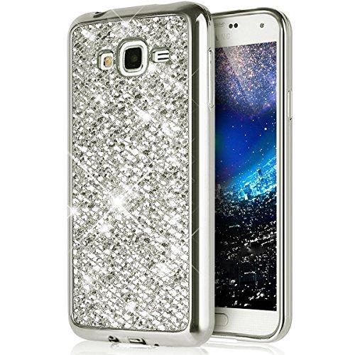 Ukayfe Custodia Samsung Galaxy Grand Neo i9060 Cover Samsung i9082,Moda UltraSlim Gel TPU Silicone Custodia per Galaxy Grand Neo i9060 di placcatura Morbida Cristallo Protettiva Brillantini