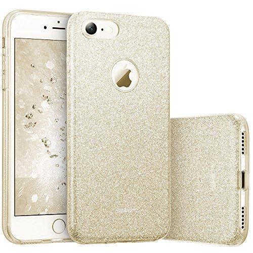 ESRLuxus Glitzer Bling Hülle kompatibel mitiPhone7,iPhone8 Hülle [Glänzende Mode] Designer Schutzhülle füriPhone7/8 4.7 Zoll - Gold