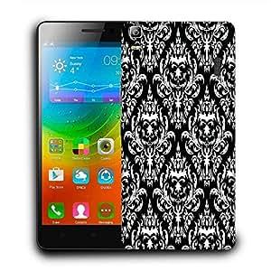Snoogg Mix Pattern White Designer Protective Phone Back Case Cover For Lenovo A7000 / Lenovo K3 Note