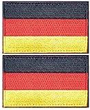tacvasen 2piezas–Alemania Deutschland bandera parche bordado apliques coser hierro en/sobre, hombre, Same Color Border