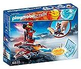 Playmobil Fire & Action - Androide de Fuego con Lanzador (6835)