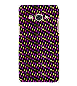 Florocent Dots 3D Hard Polycarbonate Designer Back Case Cover for Samsung Galaxy J3 Pro