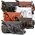 Catwalk Collection Handbags - Cuir Véritable - Sac à Main/Sac Bandoulière/Sac Besace/Messenger/Sac Porté Croisé - Femme - LOUISA