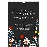 A4 Design Bastelkalender immerwährend zum Selbstgestalten, Fotokalender, Kreativkalender, Geburtstagskalender, DIY Design, schwarz weiß, bunt mit Blumen, mit Jahresübersicht für 2019, 2020