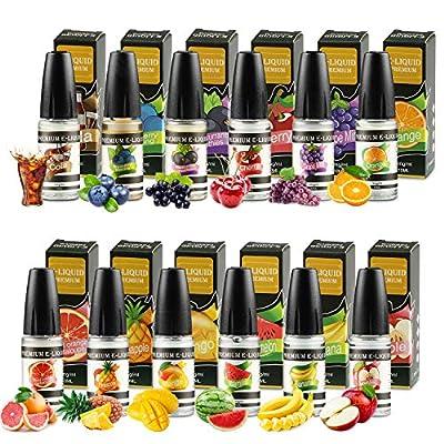 WOSTOO E Liquids, 12 X 10mL E-Liquid für E-Zigarette ohne Nikotin VG50%/PG50%, E-Shisha Elektrische Zigarette,E Liquids für E Zigaretten/Elektrische Zigarette/E Shisha von WOSTOO
