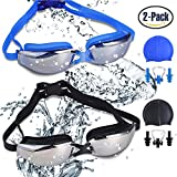 Best Water Goggles - Pack of 2 Swim Goggles, Leak Free UV Review