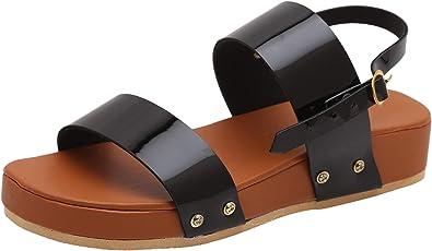 TS Nanda Women's Synthetic Leather Flat Sandals