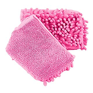 ANSIO 3109 Pink Spray Mop Microfiber Pad Double- Sided Reusable Machine Washable - Pink