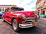 VLIES Fototapete OLD HAVANA CAR -(407vp)-350x260 cm in 7 BAHNEN 50 cm B.x260 cm H. -Digitaldruck! Spezialkleber für Vliestapete!- Non Woven Wall XXL Phototapete Foto Mural Photo Bildtapete Fotomural City Insel Meer Pferd Skyline Steine Strand Wald