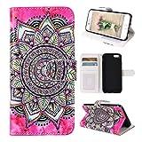 Asnlove Custodia Moda per iPhone 6 Plus / 6S Plus, PU Pelle Caso Funzione Portafoglio Cover Motif di Colore Dipinto Cassa Flip Libro Case Bumper Antiurto Protezione Completa Shell, Colore 3