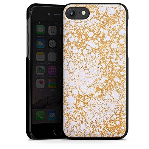 Apple iPhone X Silikon Hülle Case Schutzhülle Wabe Wachs Muster Hard Case schwarz