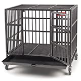 """ProSelect Medium Sized 20-Gauge Steel Empire Dog Cage – Interior Dimensions of Cage, 35.75"""" x 23.5"""" With 24.5"""" in Height"""