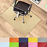Office Marshal® Protection de sol colorée pour chaise de bureau - Protection polyvalente–Taille et couleur au choix, beige
