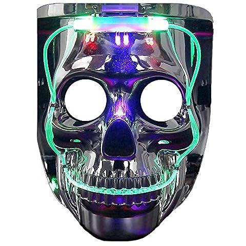 Led Maske, DAXIN Blinkende Schädel Maske Horror Maske Party Maske mit bunten Lichter für Halloween, Party, Led (Purge-kostüme Für Halloween)