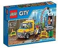 LEGO City Demolition 60073 - Camioncino da Demolizione - LEGO - Casa e cucina - Contiene 2Mini figure con raccordo Accessorio: uno Driver e uno Lavoratori edili - Anche contengono: uno Camion con Gru, Uno Rimorchio e portatile Servizi igienici di cos...