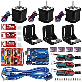 Longruner Professional 3D Printer CNC Kit for Arduino GRBL CNC Shield +UNO R3 Board+RAMPS 1.4 Mechanical Switch Endstop+DRV8825 A4988 GRBL Stepper Motor Driver+Nema 17 Stepper Motor (LKB02)