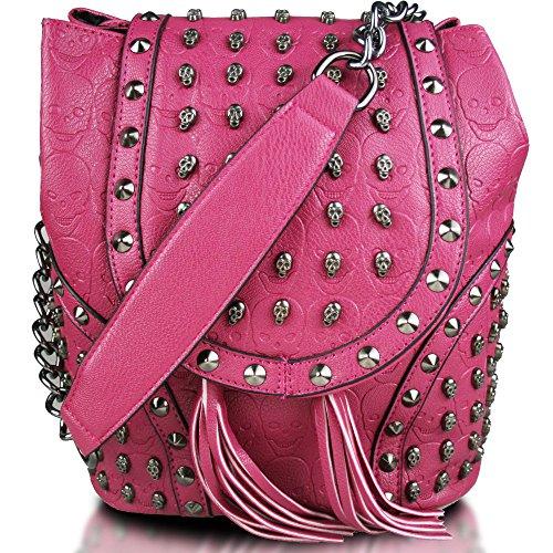 Miss Lulu - Bolso mochila de cuero de imitación para mujer Ciruela bolso espacial