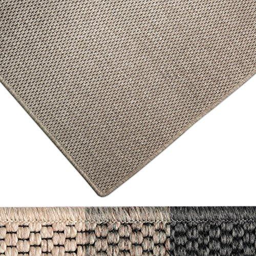 casa pura Moderner Teppich in Premium Sisal Optik | ausgezeichnet mit GUT-Siegel | pflegeleichtes Flachgewebe | viele Größen (Taupe, 200x200 cm) -