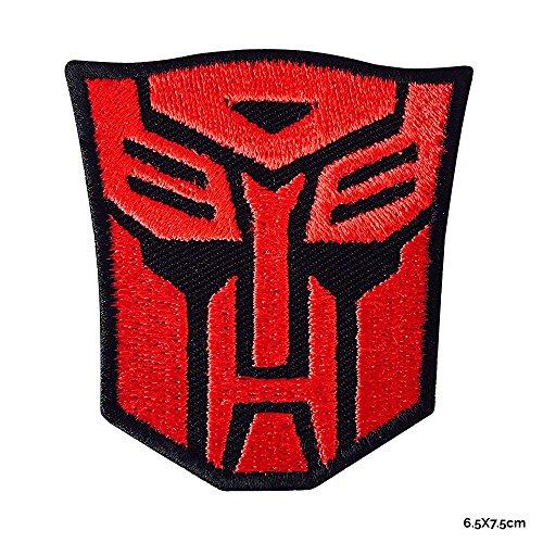 Real Hero Kostüm Super - REAL EMPIRE Echt Empire Transformer Logo bestickt Patch Eisen auf oder Nähen auf Super Heroes Filmen TShirt Jacken Taschen Red/Blk