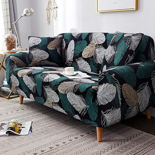ABUKJM Sofabezug Ohne Armlehnen Floral Bedruckte Sofabezug Spandex Wohnzimmer Heimtextilien Möbel Schutzhülle Elastischen Stretch Sofa Handtuch @ Color 14 Pillowcase 2Pc