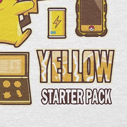 TEXLAB - Yellow Poke Pack - Damen T-Shirt Weiß
