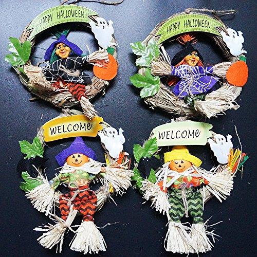 Cosanter 1× Halloween Deckenhänger Halloween Shop Dekoration Klassenzimmer Ghost Tür Tür Anhänger Tür Ring Zauberer der Geister Herzlich Willkommen (Tür Halloween Klassenzimmer)