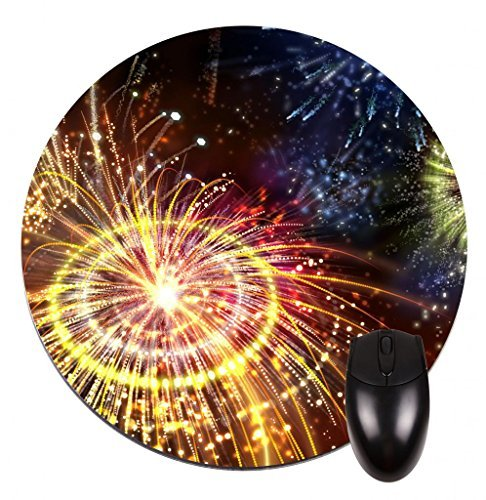 colorato-fireworks-round-mouse-pad-stylish-durable-office-accessory-and-gift