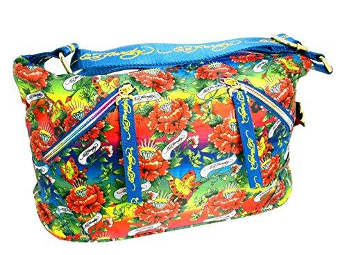 Ed Hardy 1ANY033EME-Bleu Handtasche, Damentasche, Henkeltasche, Handbag - Mehrfarbig 26 cm -