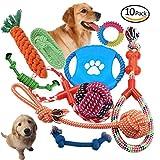 Hundespielzeug Kauspielzeug Interaktives Spielzeug Interaktives Spielzeug Baumwollknoten Hundespielzeug Set Spielset für Hund Katze 10 Teile