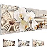 Bilder – Wandbild - Vlies Leinwand - 100 x 40 cm - Orchidee Bild - Kunstdrucke – mehrere Farben und Größen im Shop - Fertig Aufgespannt !!! 100% MADE IN GERMANY !!! - Blumen – Abstrakt 205212c