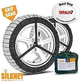 Silknet, calze da neve per pneumatici; taglia 90, modello universale compatibile con i modelli 255/35 R20, 265/40 R21…