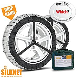 Silknet Snow Socks - Size 70 - Awarded 'Which Best Buy' - Universal To Fit 215/55 R16 , 225/50 R17 and More