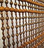 LIQICAI Holz Perlenvorhang Raumteiler für Party Club Schaufenster, Breit * Lang, 6 Größen Vorhanden (Farbe : C, Größe : 160 * 150CM)