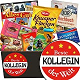Beste Kollegin | Schokoladen Set | Geschenkset | Beste Kollegin | Schokoladenkorb | Geschenkideen für Kollegin | Geschenk Kollegin 21 Geburtstag | GRATIS DDR Kochbuch